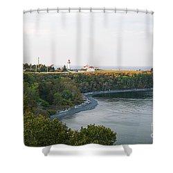 Shower Curtain featuring the photograph Cap-de-la-madeleine by Elena Elisseeva