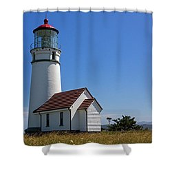 Cape Blanco Lighthouse H Shower Curtain by Inge Riis McDonald