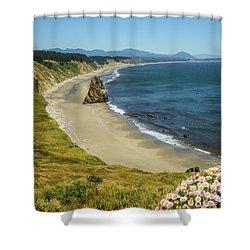 Cape Blanco On The Oregon Coast By Michael Tidwell Shower Curtain