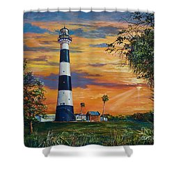 Cape Canaveral Light Shower Curtain by AnnaJo Vahle