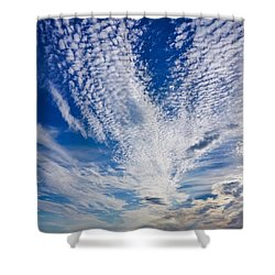 Shower Curtain featuring the photograph Cape Clouds by Kendall McKernon