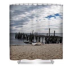 Cape Cod Bay Shower Curtain by Joan  Minchak