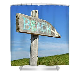 Cape Cod Beach Sign Shower Curtain