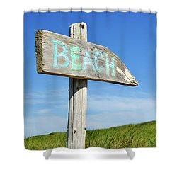 Cape Cod Beach Sign Shower Curtain