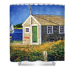 Cape Cod Boat House Shower Curtain