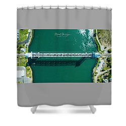 Cape Cod Canal Railroad Bridge Shower Curtain