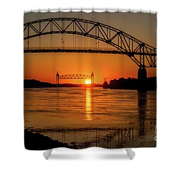 Cape Cod Canal Sunset Shower Curtain
