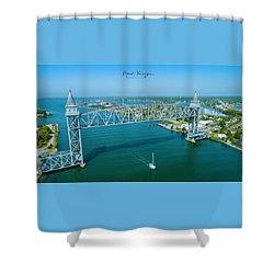Cape Cod Canal Suspension Bridge Shower Curtain