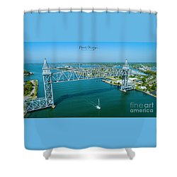 Cape Cod Canal Suspension Bridge Shower Curtain
