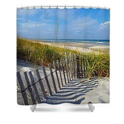 Cape Cod Charm Shower Curtain by Dianne Cowen