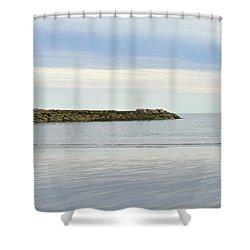 Cape Cod Jetty Sundown Shower Curtain