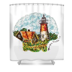 Cape Cod Lighthouse Shower Curtain
