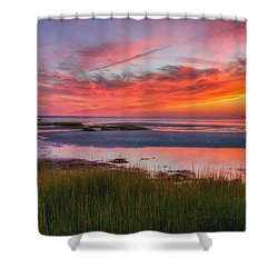 Cape Cod Skaket Beach Sunset Shower Curtain