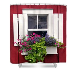 Cape Cod Window Box Shower Curtain