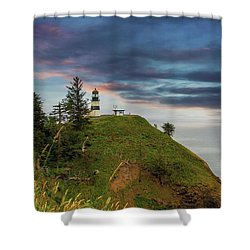 Cape Disappointment After Sunset Shower Curtain by David Gn