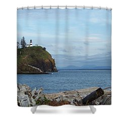 Shower Curtain featuring the photograph Cape Disappointment by Charles Robinson