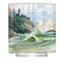 Cape Disappointment Lighthouse Shower Curtain