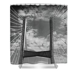 Shower Curtain featuring the photograph Cape Girardeau Bridge by Marie Leslie