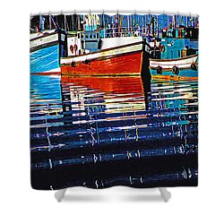 Cape Harbour Shower Curtain by Dennis Cox WorldViews