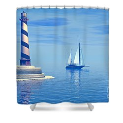 Cape Hatteras Shower Curtain by Corey Ford