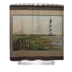 Cape Hatteras Light House Shower Curtain