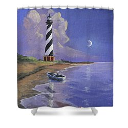 Cape Hatteras Lighthouse Shower Curtain by Jerry McElroy