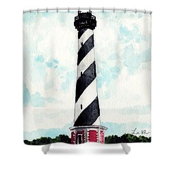 cape hatteras lighthouse outer banks north carolina shower curtain