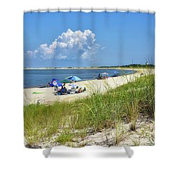 Shower Curtain featuring the photograph Cape Henlopen State Park - Beach Time by Brendan Reals