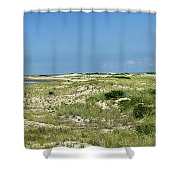 Shower Curtain featuring the photograph Cape Henlopen State Park - The Point - Delaware by Brendan Reals