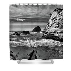 Cape Kiwanda Seascape Shower Curtain by Scott Cameron