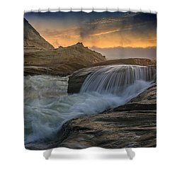 Cape Kiwanda Tides Shower Curtain