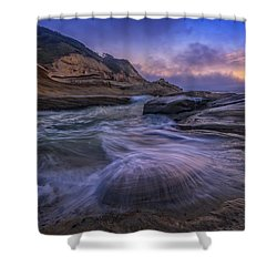 Cape Kiwanda Twilight Shower Curtain