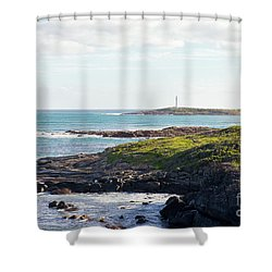 Shower Curtain featuring the photograph Cape Leeuwin Lighthouse by Ivy Ho