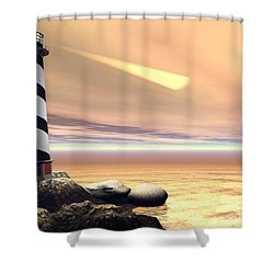 Cape Lookout Shower Curtain by Corey Ford