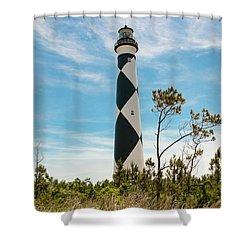 Cape Lookout Light No 2 Shower Curtain