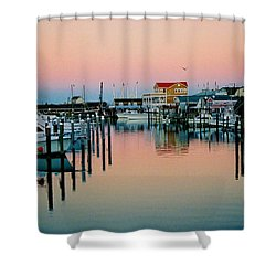 Shower Curtain featuring the photograph Cape May After Glow by Steve Karol
