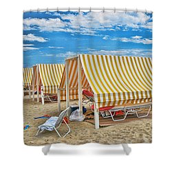 Cape May Cabanas 2 Shower Curtain