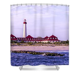 Shower Curtain featuring the photograph Cape May Light House by Linda Constant