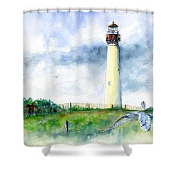 Cape May Lighthouse Shower Curtain by John D Benson