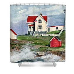 Cape Neddic Lighthouse  Shower Curtain