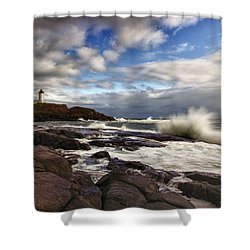 Cape Neddick Maine Shower Curtain by Rick Berk