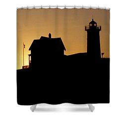 Cape Neddick-nubble Light Shower Curtain