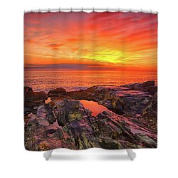 Cape Neddick Sunrise Shower Curtain