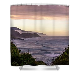Cape Perpetua, Oregon Coast Shower Curtain