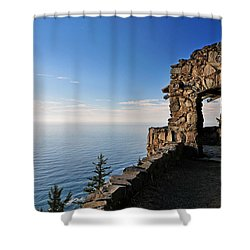 Cape Perpetua Stone Shelter Shower Curtain