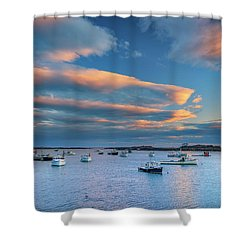 Shower Curtain featuring the photograph Cape Porpoise Harbor At Sunset by Rick Berk