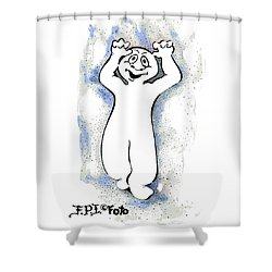 Real Fake News Spooky Correspondent Shower Curtain