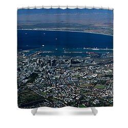 Capetown South Africa Aerial Shower Curtain by Sandra Bronstein