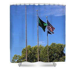 Capital Hill Olympia Washington Flags Shower Curtain