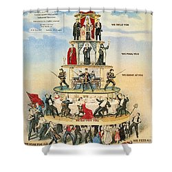 Capitalist Pyramid, 1911 Shower Curtain by Granger